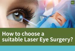 Do you want to receive a Laser Eye Surgery but worry about surgical risk or postoperative eye drynes